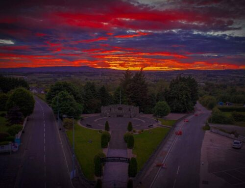 Sunset above our Garden of Remembrance, Carrickmore.